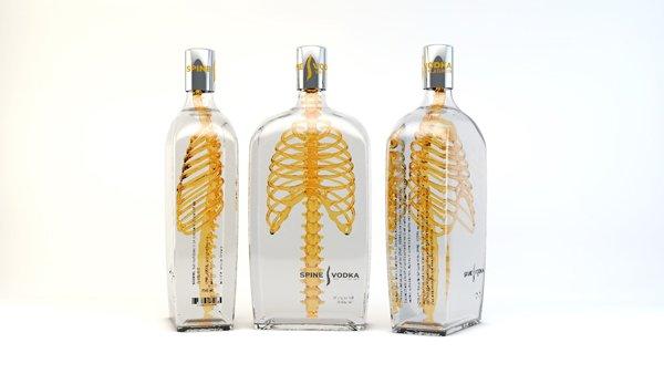 ออกแบบกล่อง ออกแบบบรรจุภัณฑ์ SPINE Vodka packaging 2
